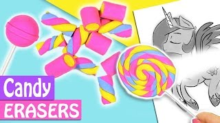 DIY CANDY ERASERS SCHOOL SUPPLIES - INNOVA CRAFTS