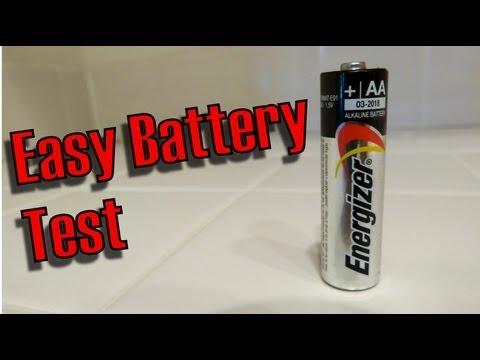 Ένας απλός τρόπος για να τσεκάρετε αν μια μπαταρία είναι γεμάτη