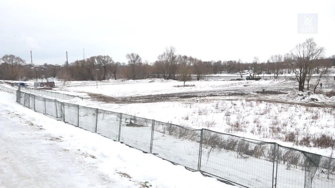 Работы по реконструкции поймы парка «Усадьба Кривякино» под контролем