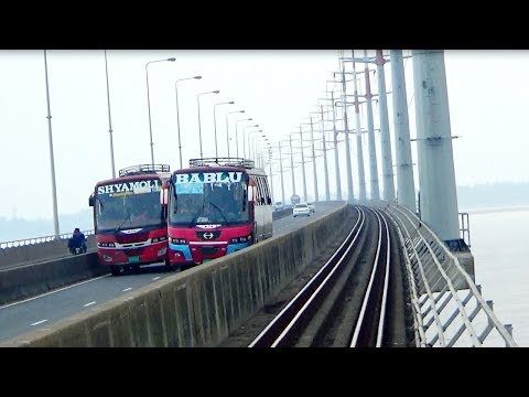 Beautiful Scenery of Bangabandhu Bridge Captured in front of the Train Engine ever seen.