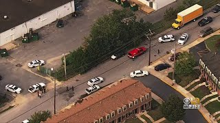 Police On Scene Of Shooting At Baltimore City, County Line