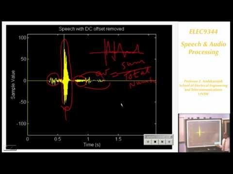 Speech and Audio Processing 2: Speech Analysis - Professor E. Ambikairajah