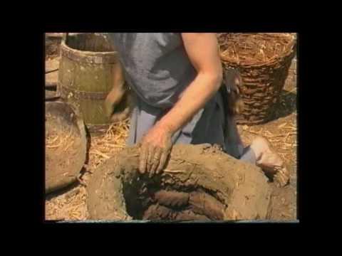 Building a Celtic iron smelting furnace and roasting the bog-ore www.ThijsvandeManakker.com