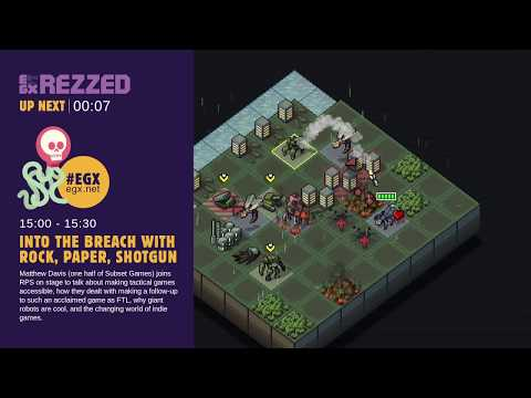 Into The Breach with Rock, Paper, Shotgun - EGX Rezzed 2018