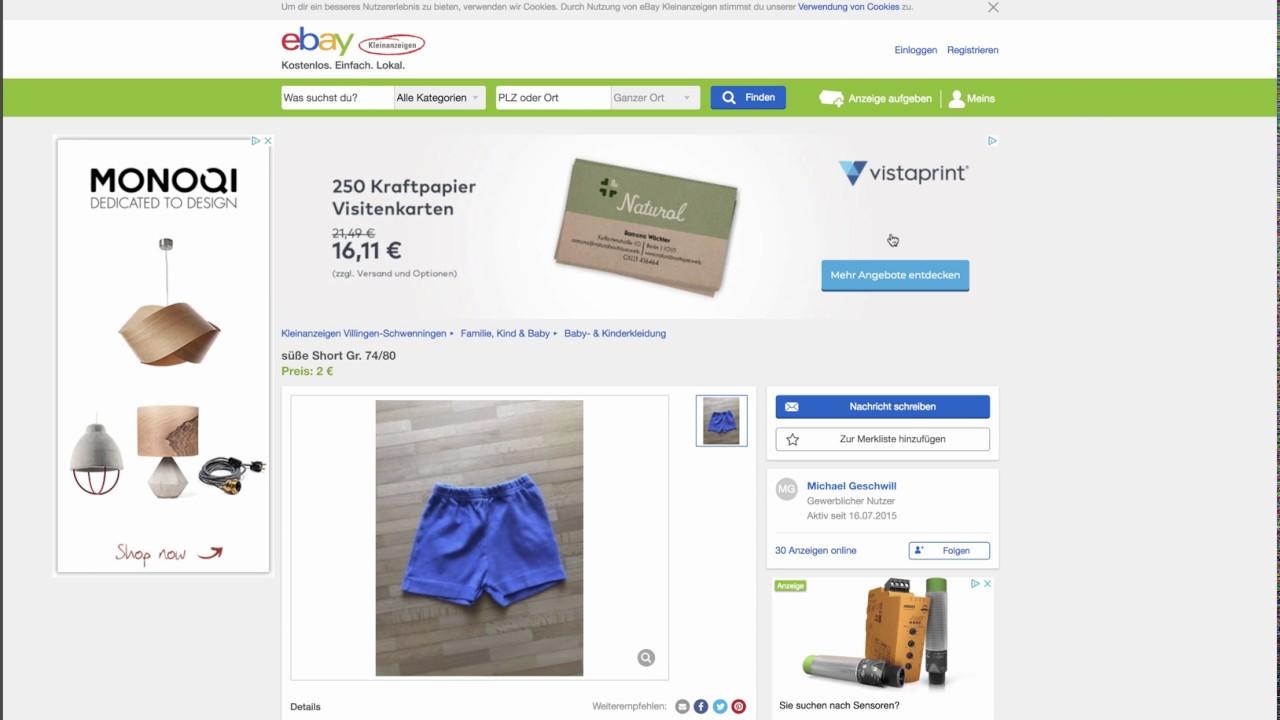 Impressum Bei Ebay Kleinanzeigen Automatisch ändern