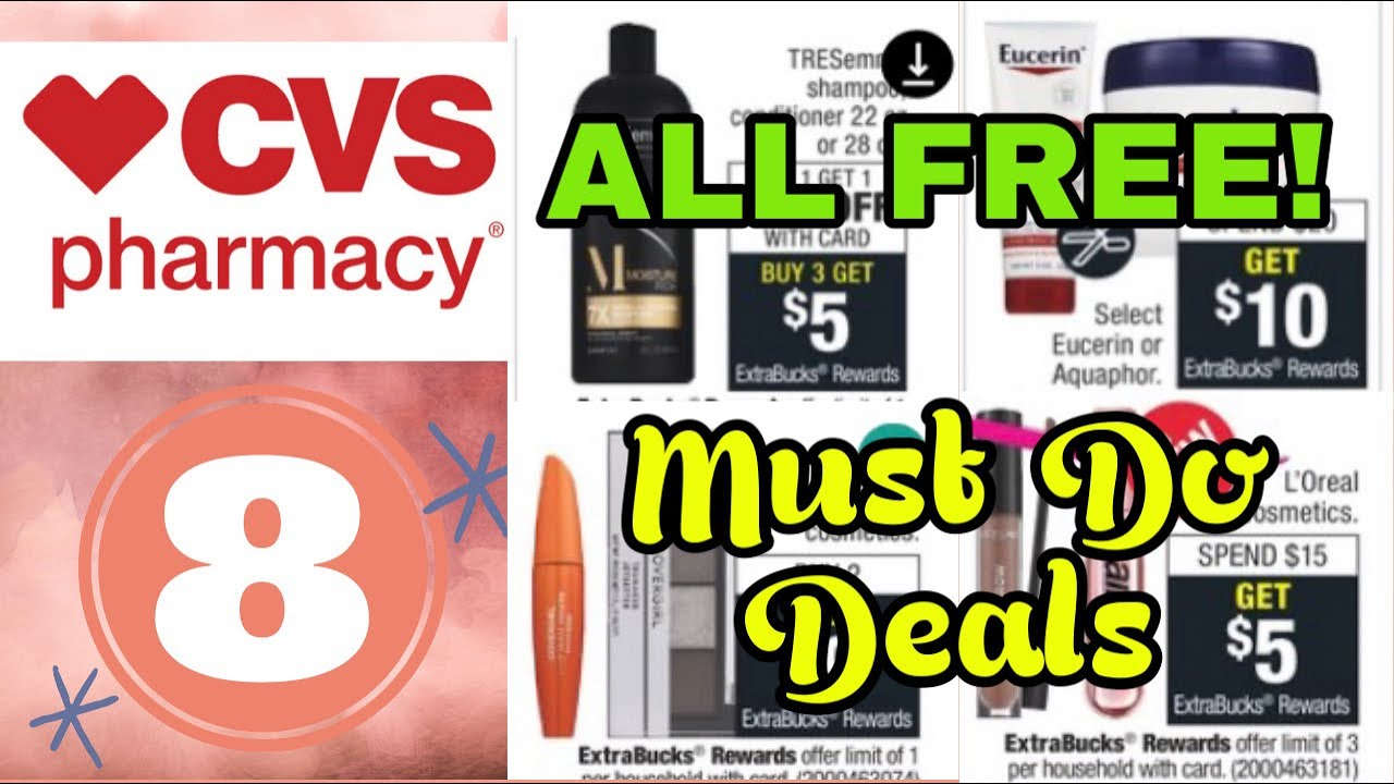 CVS Must Do Deals Get $120 of Products FREE!- 11/8-14/2020