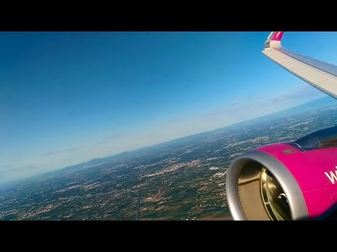 Airbus A321CEO Full flight : Venice to Bucharest with Wizzair | Amazing Sound