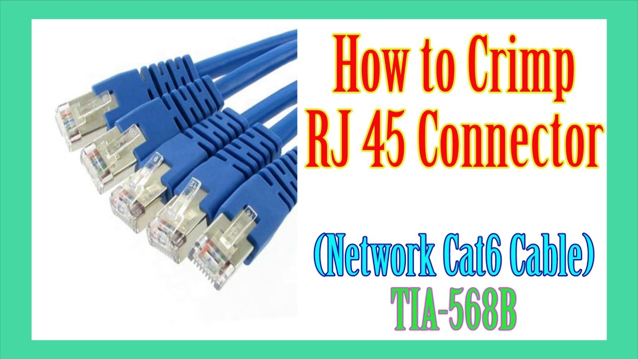 How To Crimp Rj45 Network Cable: How to crimp RJ45 cable - YouTuberh:youtube.com,Design