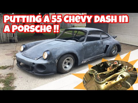 PUTTING A 55 CHEVY DASH IN A PORSCHE! HOW TO MAKE A VINTAGE DASH FIT IN A MODERN CAR!