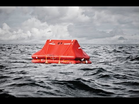 Opening a Life Raft Indoors!