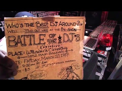 storage room tv: flyer for 1st dj battle ever!!! '87 [double kk files]