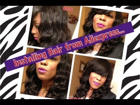 Part 4: Installing Hair From Aliexpress (Cut & Style) ft Guangzhou Beauty ...