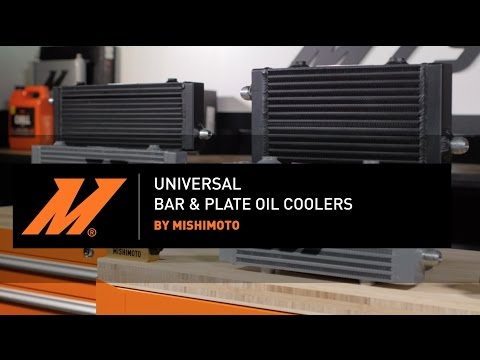 Universal Cross Flow Bar & Plate Oil Cooler Features & Benefits by Mishimoto
