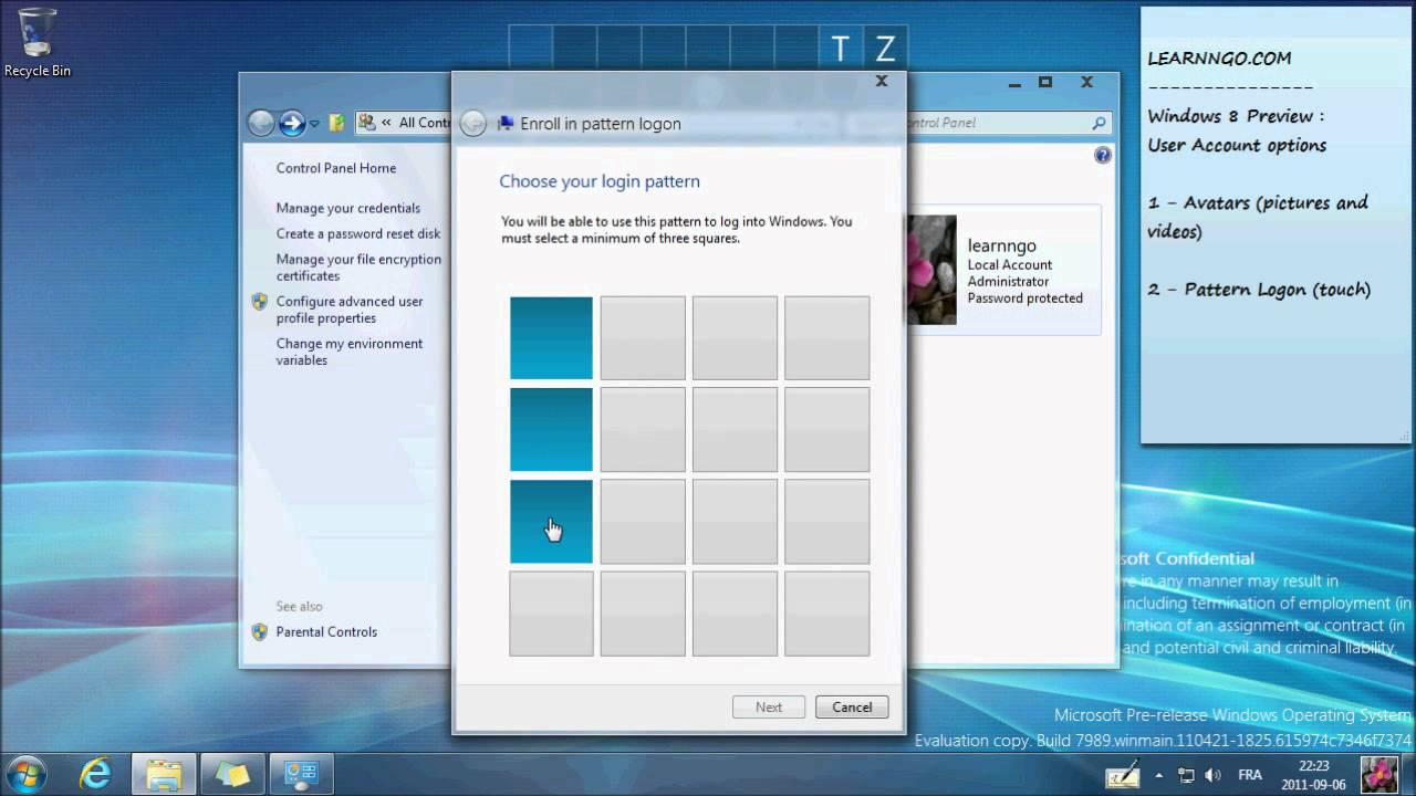 Windows logon credentials are unavailable - Windows 8 Avatars And Pattern Logon Preview Learnngo Com