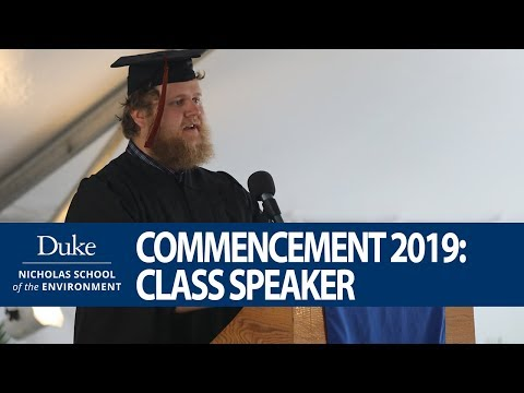 Nicholas School Commencement 2019: Class Speaker