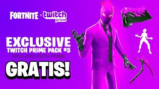 Como Conseguir SKINS TWITCH PRIME 100% GRATIS en Fortnite! (Pack Twitch Prime 3) [PS4, Xbox One, PC]