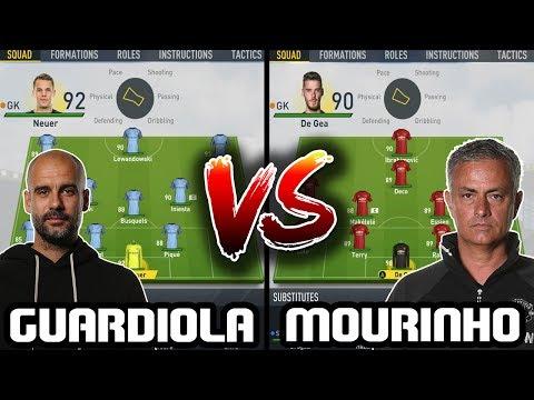 GUARDIOLA XI VS MOURINHO XI! BATTLE OF THE RIVALS! - FIFA 17 EXPERIMENT