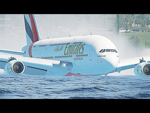A380 Water Emergency Crash Landing - X-Plane 11