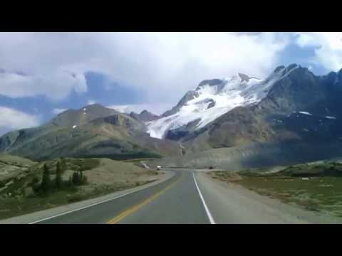 Highway 93. Go to the Columbia Icefield Glacier Discovery Centre.