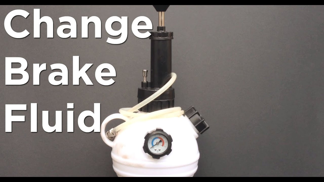 How to change brake fluid with a pressure bleeder One man method
