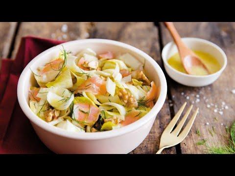 recette-:-salade-d'endives-aux-noix,-aneth-et-saumon-fumé