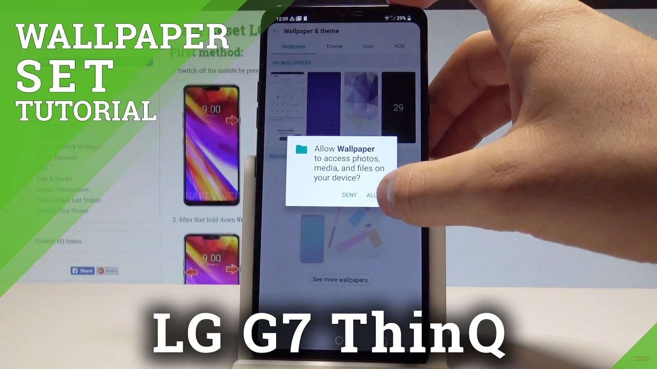 How to Change Wallpaper on LG G7 ThinQ