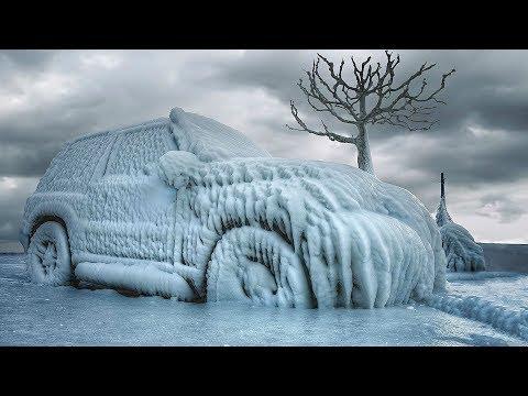 Мощный ветер и мокрый снег! Село в Мурманске отрезано от внешнего мира