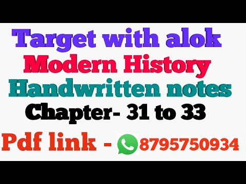 Target with alok Modern history handwritten notes chapter - 31 to 33