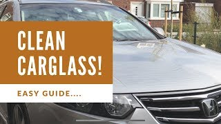 Superclean car glass windows no streaks inside and outside