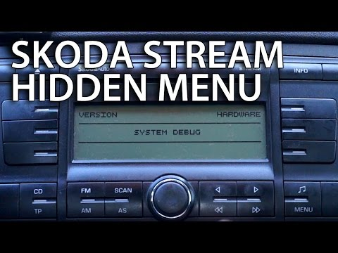 How to enter Skoda Octavia II STREAM radio hidden menu (service debug mode)