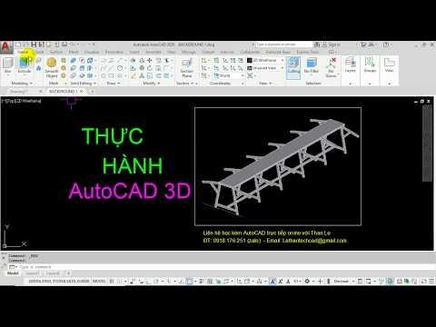 Dạy vẽ AutoCAD 3D - Thực hành vẽ CAD 3D bộ bàn thao tác trong sản xuất