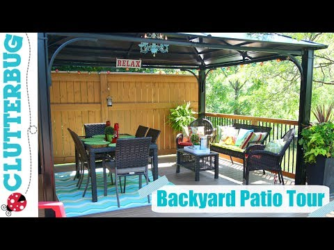 Backyard Patio Decorating Ideas, Tips and Tour