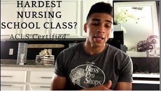 Hardest Class In Nursing School? ACLS Certification