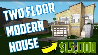 $15,000 MODERN HOUSE TUTORIAL! Starter Home! Roblox Bloxburg