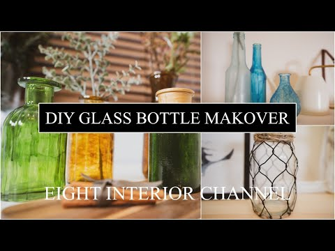 DIY GLASS BOTTLES MAKEOVER from YouTube · Duration:  10 minutes 9 seconds