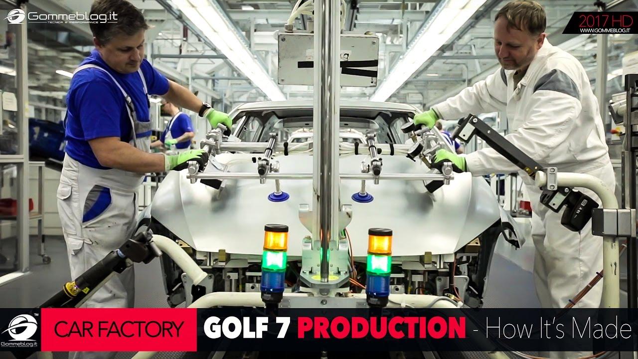 how it 39 s made volkswagen vw golf 7 car factory production plant gommeblog youtube. Black Bedroom Furniture Sets. Home Design Ideas