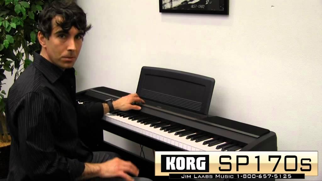 korg sp 170s digital piano review youtube. Black Bedroom Furniture Sets. Home Design Ideas