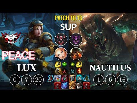 JDG Peace Lux vs Nautilus Sup - KR Patch 10.16