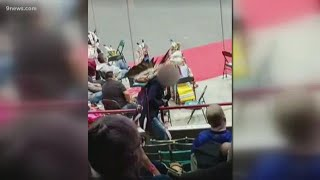 Video shows non-Native American woman dancing with regalia during powwow