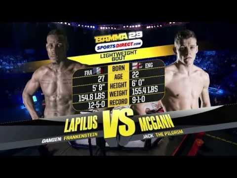 BAMMA 23 (Prelim) Jack McGann vs Damien Lapilus