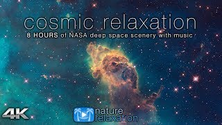 COSMIC RELAXATION: 8 HOURS of 4K Deep Space NASA Footage + Chillout Music for Studying, Working, Etc