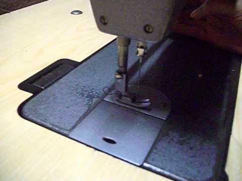 Maquina de coser industrial singer - YouTube