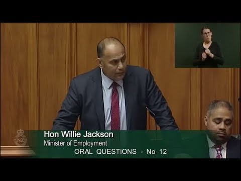 Question 12 - Hon Paula Bennett to the Minister of Employment
