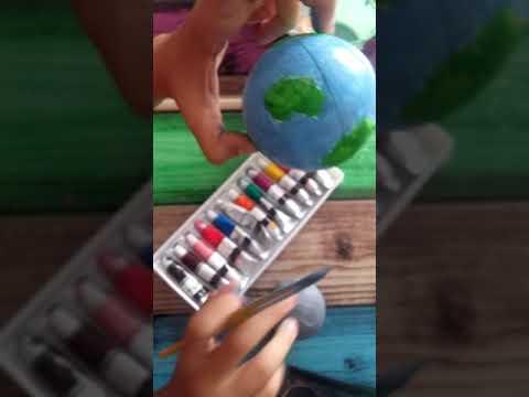 Akrilik Ve Sulu Boya Ile Dunya Modelleri Youtube