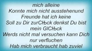Laura - Du Bist Allein Lyrics