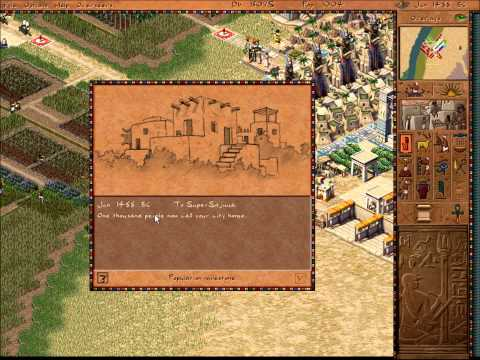 Pharaoh Walkthrough: Mission 25 - Thutmose in the Valley (Deir El-Medina 1) [1/2]