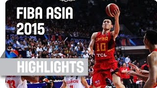 Lebanon v China - Group F - Game Highlights - 2015 FIBA Asia Championship