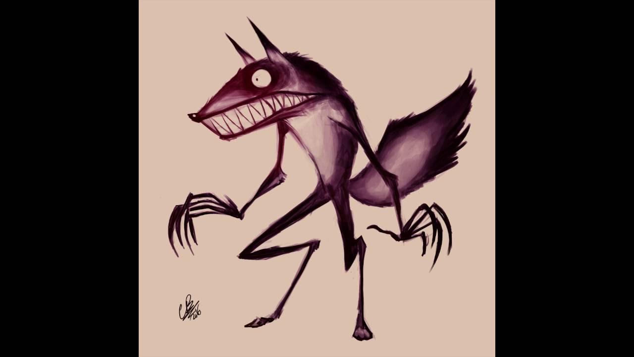 I Draw a Werewolf- Tim Burton Style - YouTube