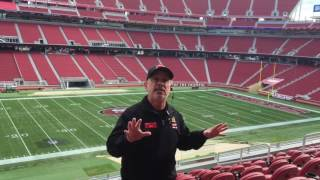 Tour of Levi's Stadium before the 49ers vs Seahawks game