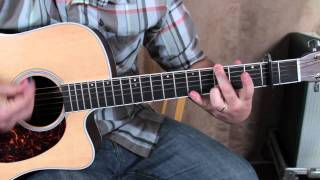 Coldplay - Every Teardrop is a Waterfall - Acoustic guitar lesson how to play